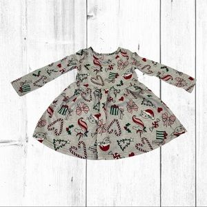 Children's Place Holiday Print Skater Dress 18/24M